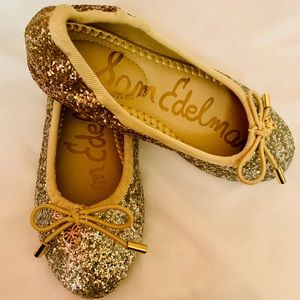 Sam Edelman Silver/Gold Ballet Flats